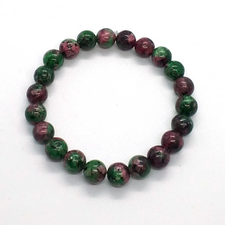 Natural Stone Zoisite Anyolite Beads 8mm Bracelet