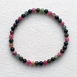 Pulsera unisex de esferas de Turmalina multicolor