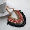 Ethnic Necklace With Colorful Acrylic Pendants
