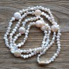 White Nugget Pearl Necklace with Coin Pearls