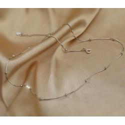 Collar gargantilla estilo minimalista en plata 925, cadena tipo snake