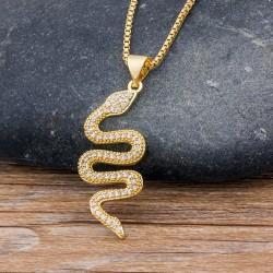 Collar de moda mujer con colgante Serpiente