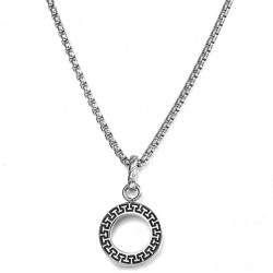 Stainless Steel Ethnic Design Pendant Necklace for Men