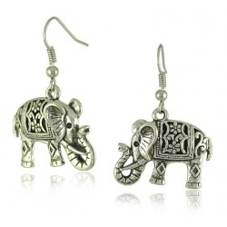 Cute vintage boho style Elephant Pendant Earrings