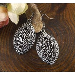 Ethnic Style Antique Silver Color Earrings Luxor
