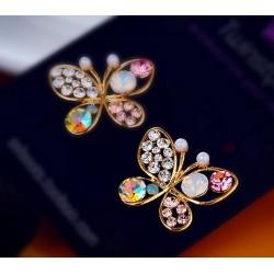 Pendientes Mariposa de cristales coloridos