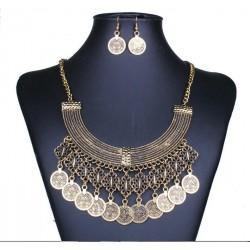 Conjunto collar y pendientes Nefertari
