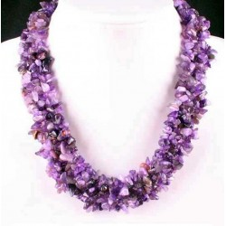 Collar de Amatista púrpura