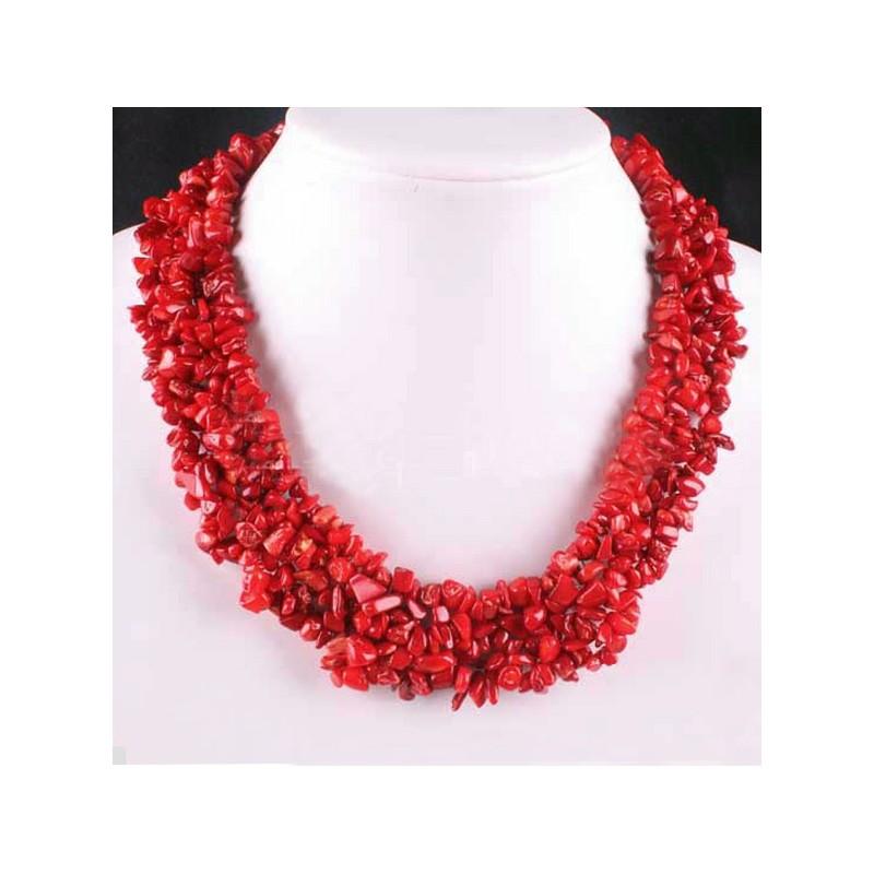c43284769f60 Collar de Coral Rojo grande ...