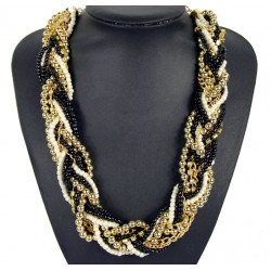 Hand-woven Gold Necklace Mirage